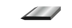 Single edge double bevel blade illustration