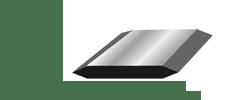 Double edge double bevel blade illustration