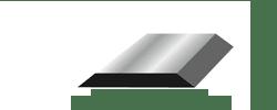 Double edge single bevel blade illustration
