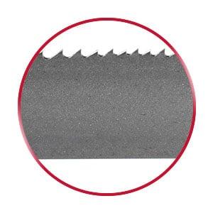 Bi-Metal M42 bandsaw blade in a red circle