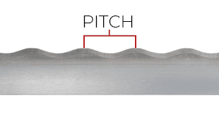 Demonstration of pitch on a Wavy blade
