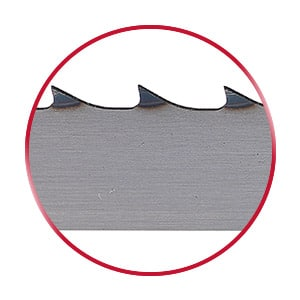 SimCut Butcher bandsaw blade in a red circle