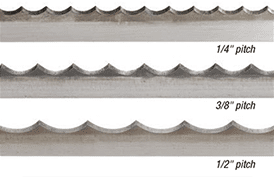 Demonstration of different Scallop blade pitches